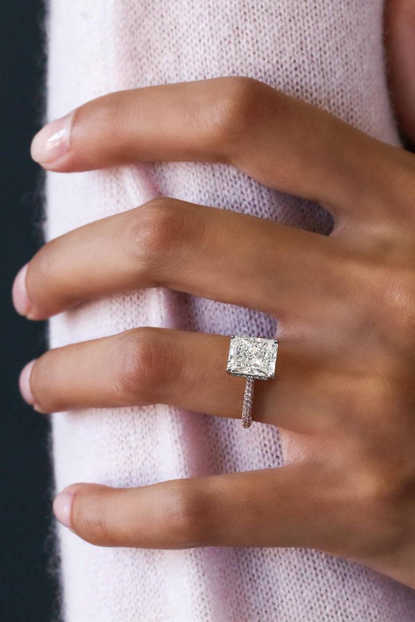 R a d i a n t c u t bridaljewelryringsgold rings