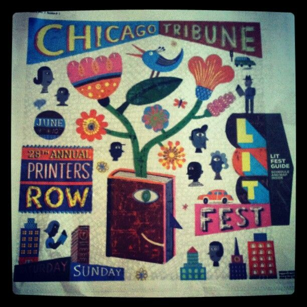 We got a few from Lisa (@writegirl on Instagram) but this is a pretty nice shot of the #prlf12 poster.