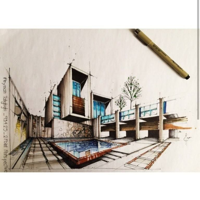 Modern Architecture Sketches paradise for the eyes – art into architectural sketches