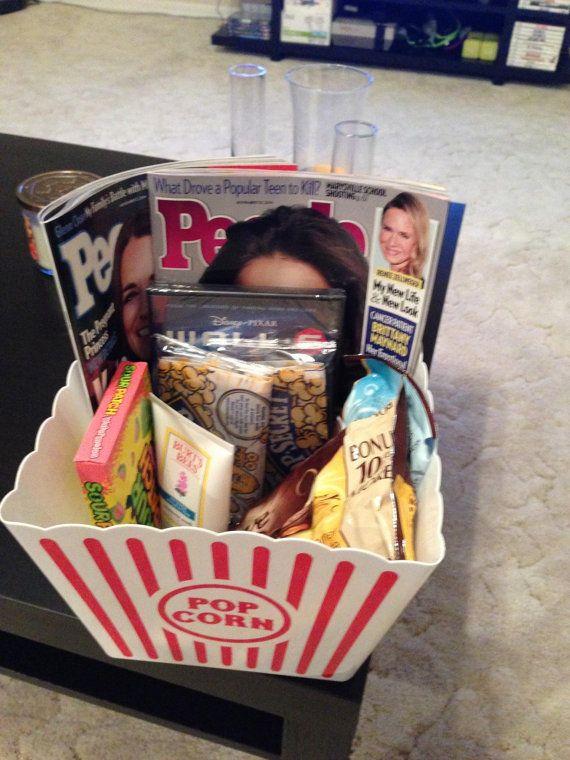 Items similar to Movie Night Gift Basket on Etsy