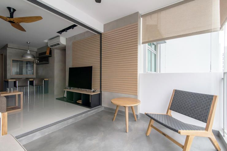 8 inspiring hdb flat homes with concrete screed finishes