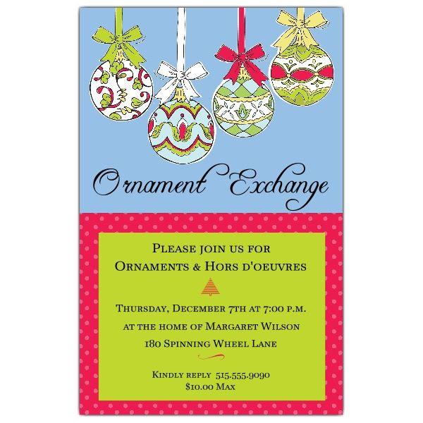 Ornate+Ornaments+Christmas+Invitations