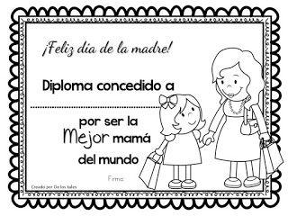 De Los Tales Día De La Madre Mayo Diplomas Para Mamá