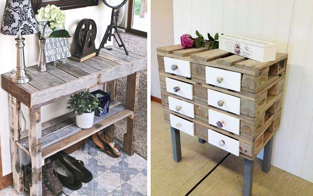 decofilia te muestra un nuevo post con ideas para decorar con pallets en este caso nos centramos en miles de ejemplos para la elaboracin de muebles diy - Mobiliario Con Palets