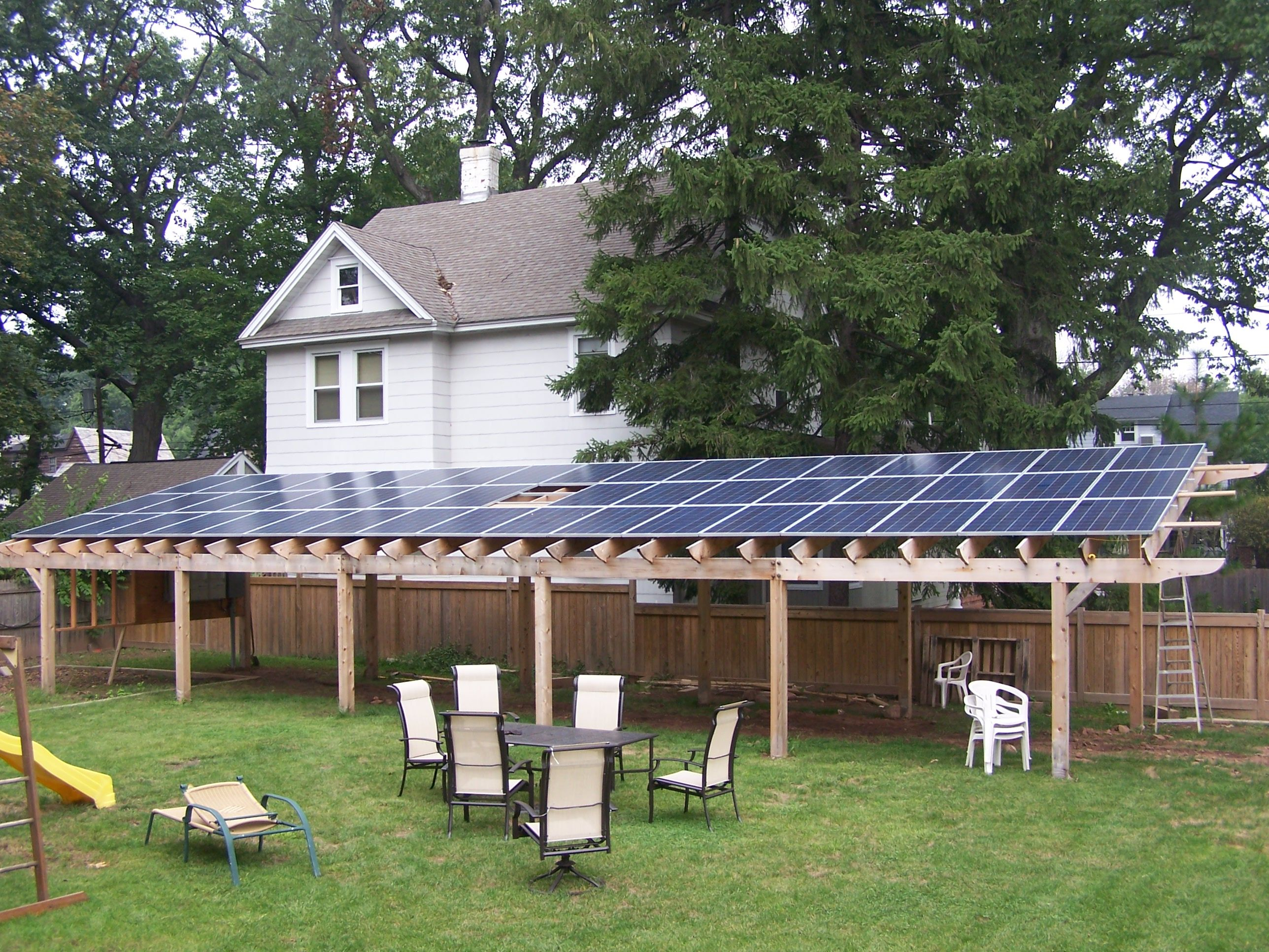 Tree Blockage House Facing North Ecorenovator Solar Power House Solar Patio Solar Panels