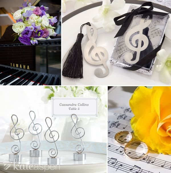 Music Theme Wedding Favors Elegant Symphony Chrome Note Bottle Opener Timeless Duet Brushed Metal Openwork Bookmark With Silk