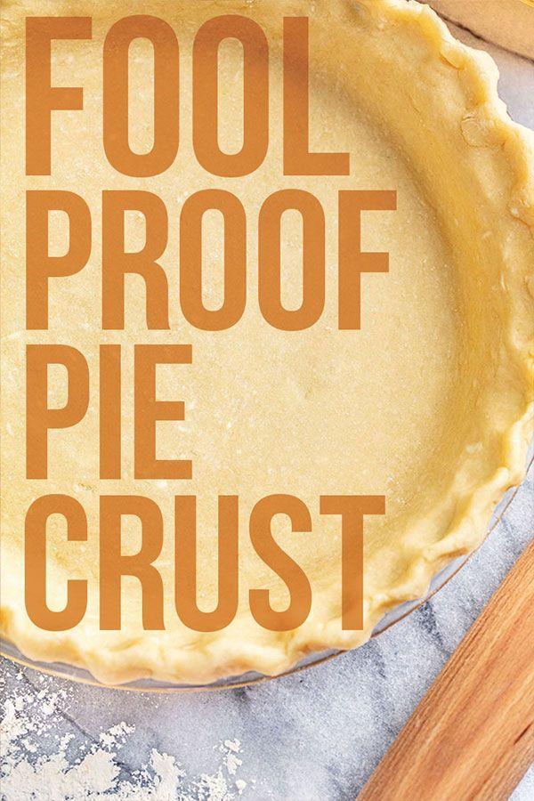 Fool Proof Pie Crust Recipe Food Processor Recipes Pie Crust