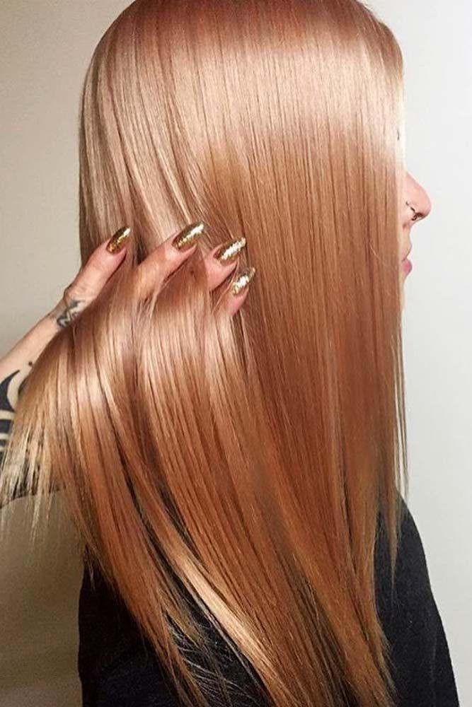 36 atemberaubende Rotgold-Haarideen, in die Sie sich sofort verlieben werden -  #atemberauben... #peachideas