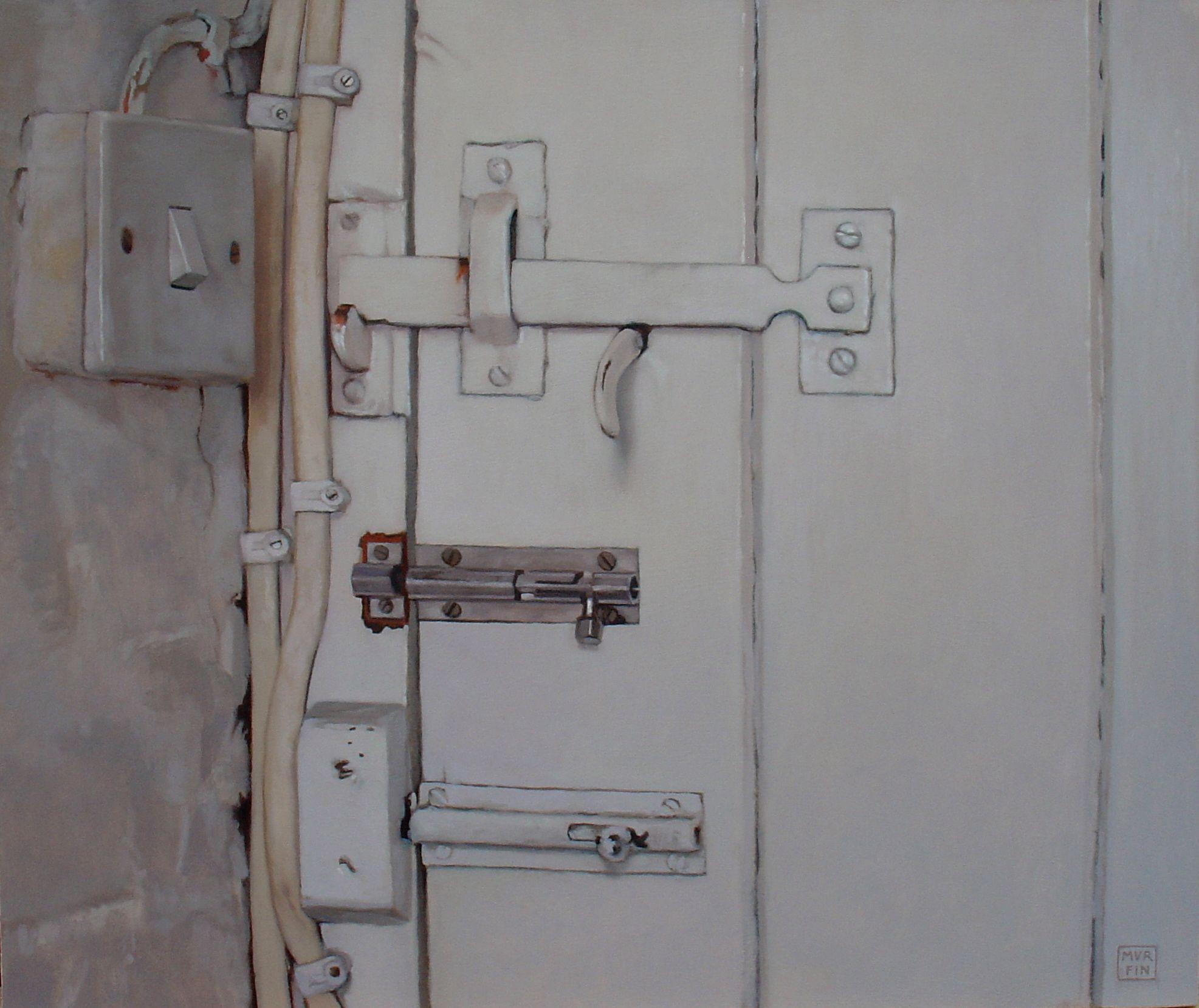 The Latch by Michael Murfin. Oil on board 38 x 46cm.  www.michaelmurfinartist.com