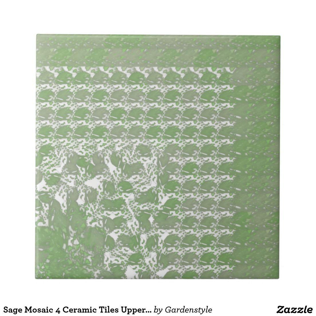 Sage mosaic 4 ceramic tiles upper right interiors sage mosaic 4 ceramic tiles upper right dailygadgetfo Gallery