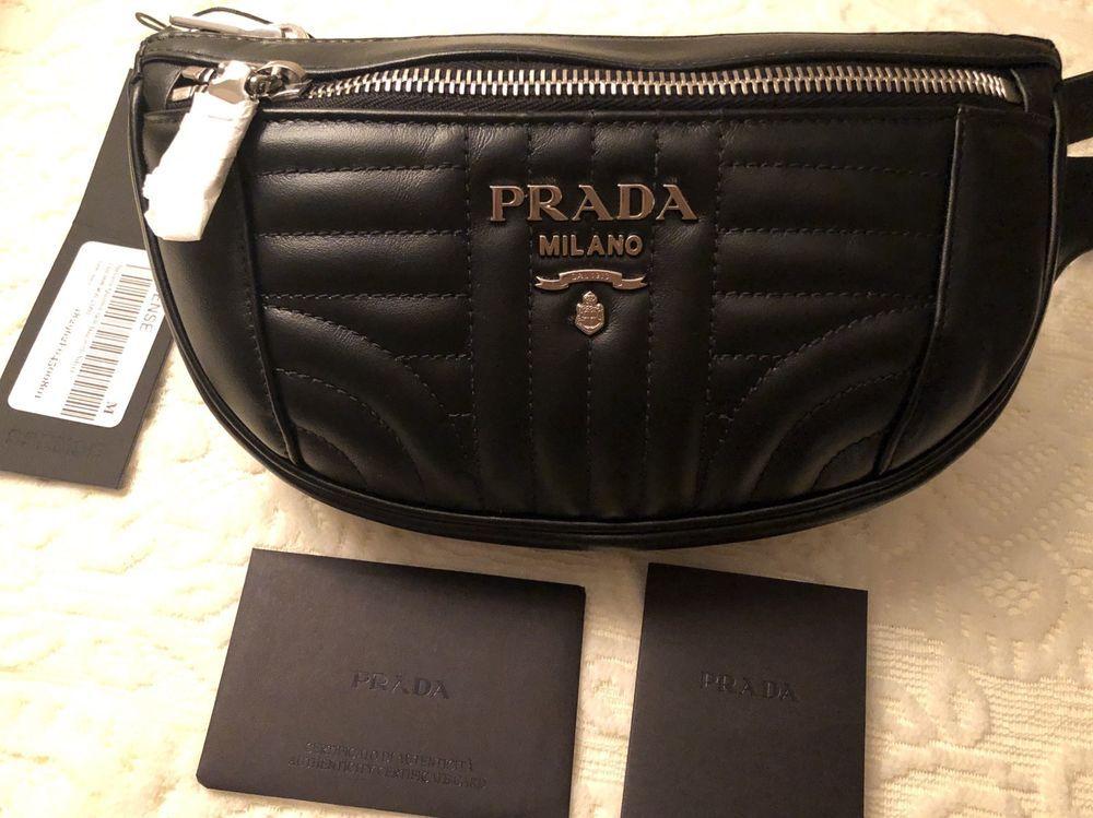 50cf91d74202 NEW PRADA Black Banana Quilted Belt Bag @ebay @pinterest #designer  #handbags #handbag #money #purse