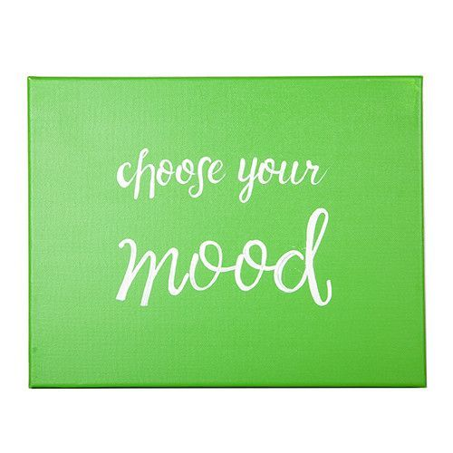 Green Choose you MOOD painting