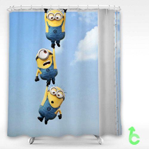 Despicable Me2 Minions Shower Curtain Cartoon Movie Disney