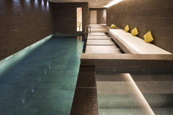 Basement Pool and Spa in Grey Slate