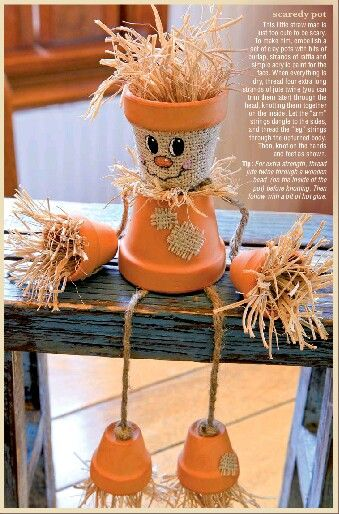 Clay pot scarecrow Hobby Lobby Crafts  Fall Season