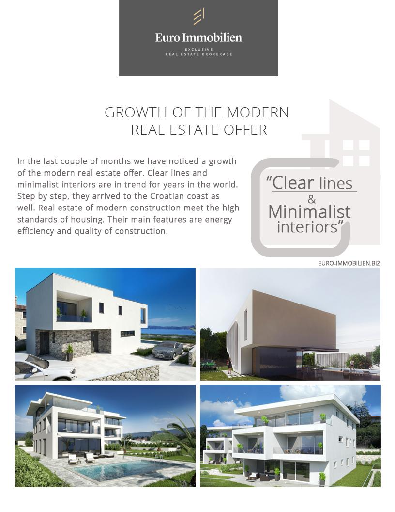 In Den Letzten Monaten Haben Wir Erhöhtes Angebot An Modernen Immobilien  Bemerkt. Saubere Linien Und