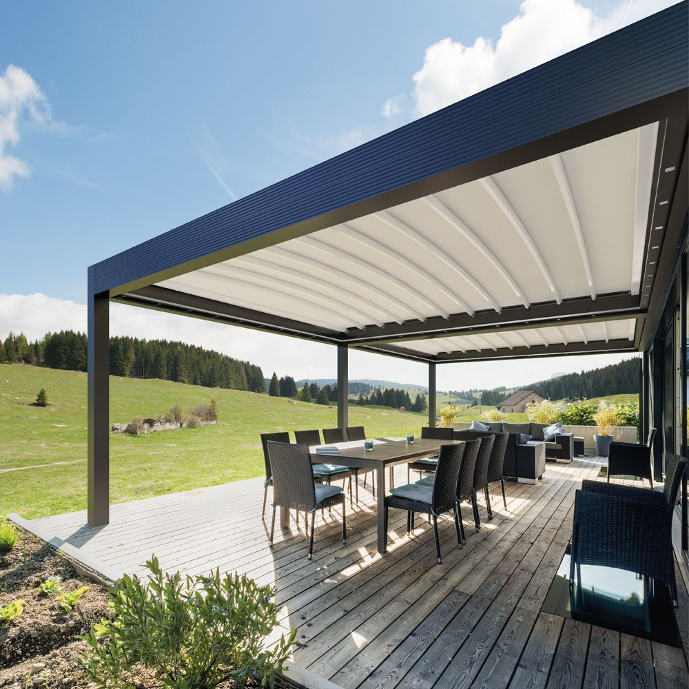 Med Zenit By Gibus Spa Archello Pergola Pergola On The Roof Pergola Kits
