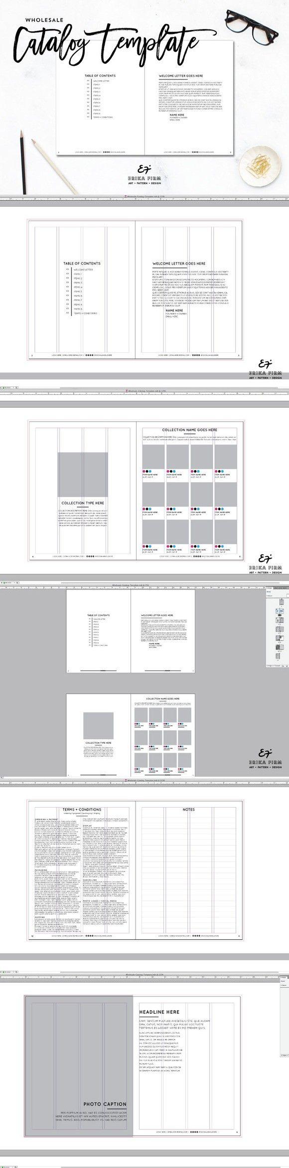 InDesign Wholesale Catalog Template | Template, Catalog and Layouts