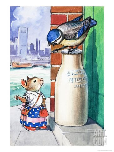 Katie Country Mouse Goes to London Giclee Print by Philip Mendoza at Art.com