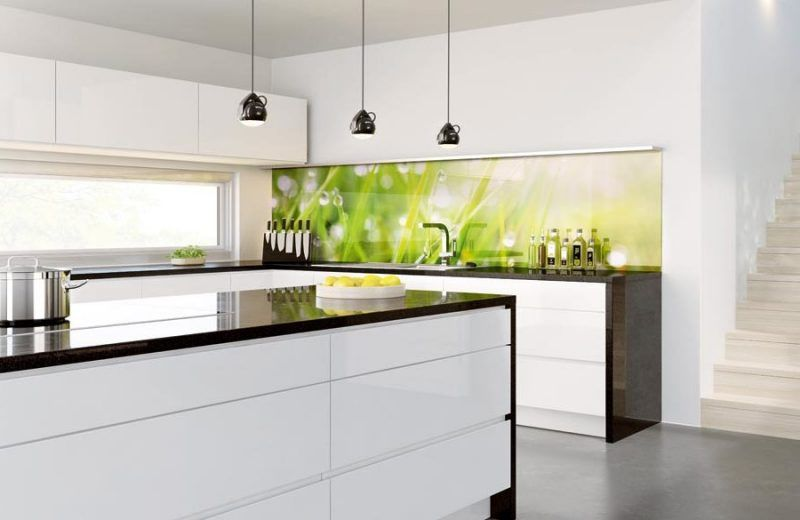 küche glasrückwand modern Küche Glasrückwand küche