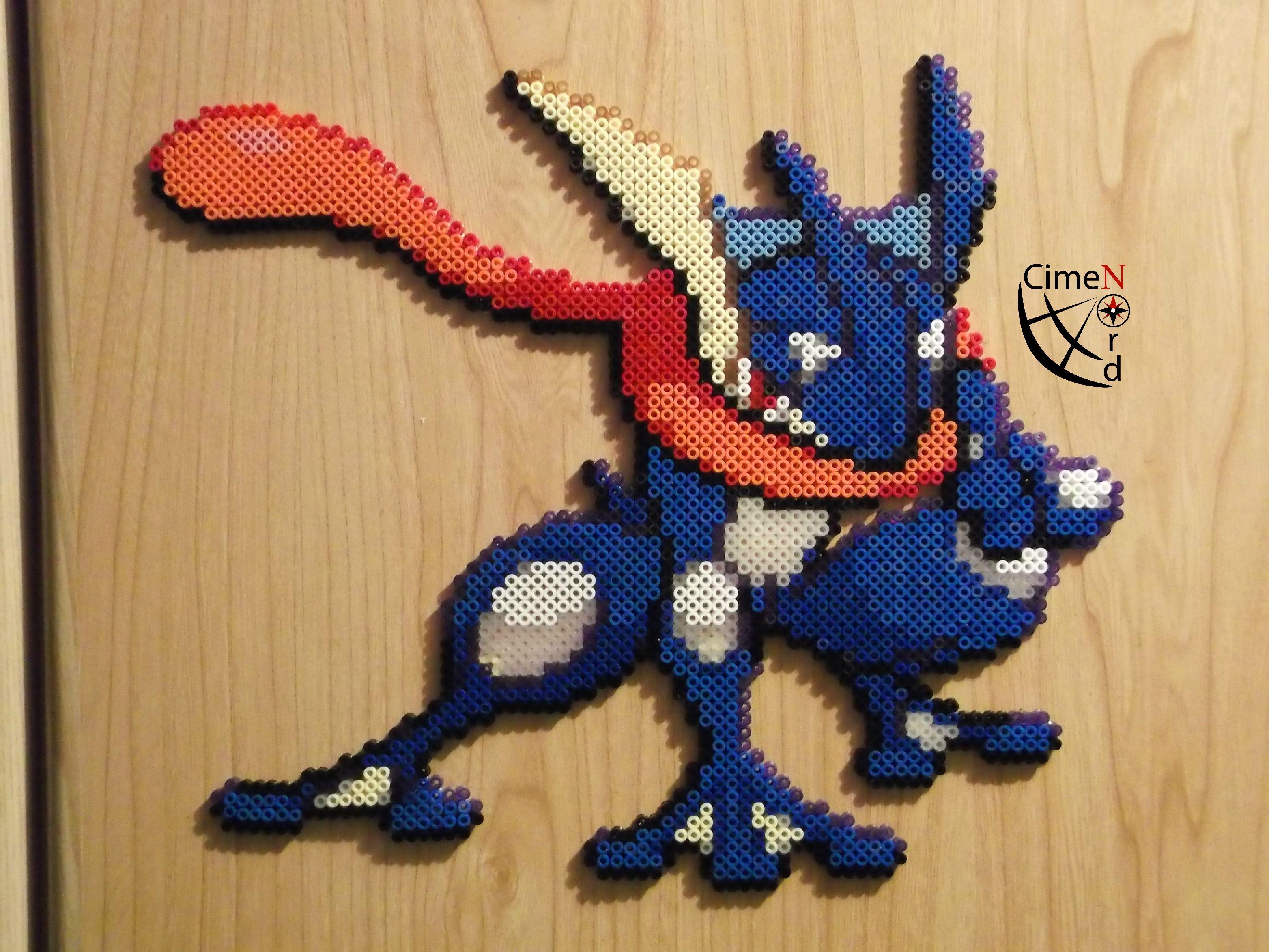 N 658 Greninja Perler Beads by Cimenord on Deviantart Pokemon