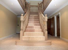 Quarter Turn Classic Staircase With Lateral Stringer (wooden Steps And  Frame) PRESCOTT STYLE Stair Plan