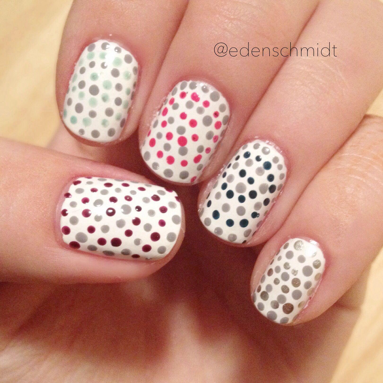polka dot nail art | MakeUp, Hair & Nails | Pinterest | Dot nail art ...