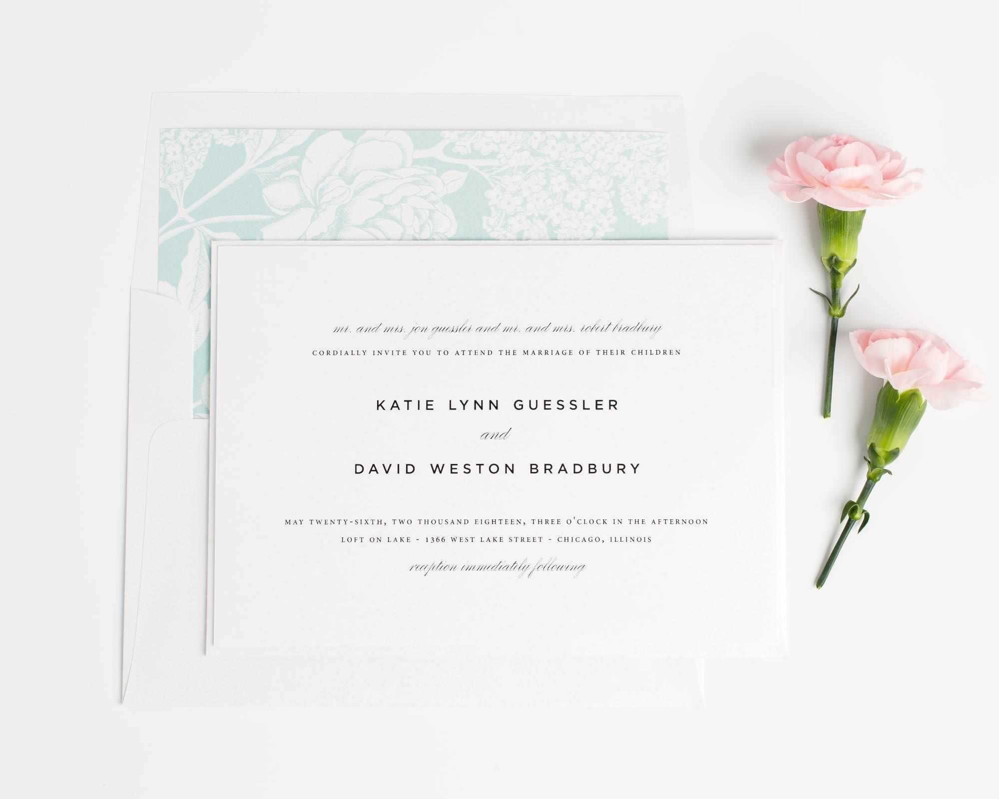 Classic Urban Wedding Invitations | Timeless wedding, Weddings and ...