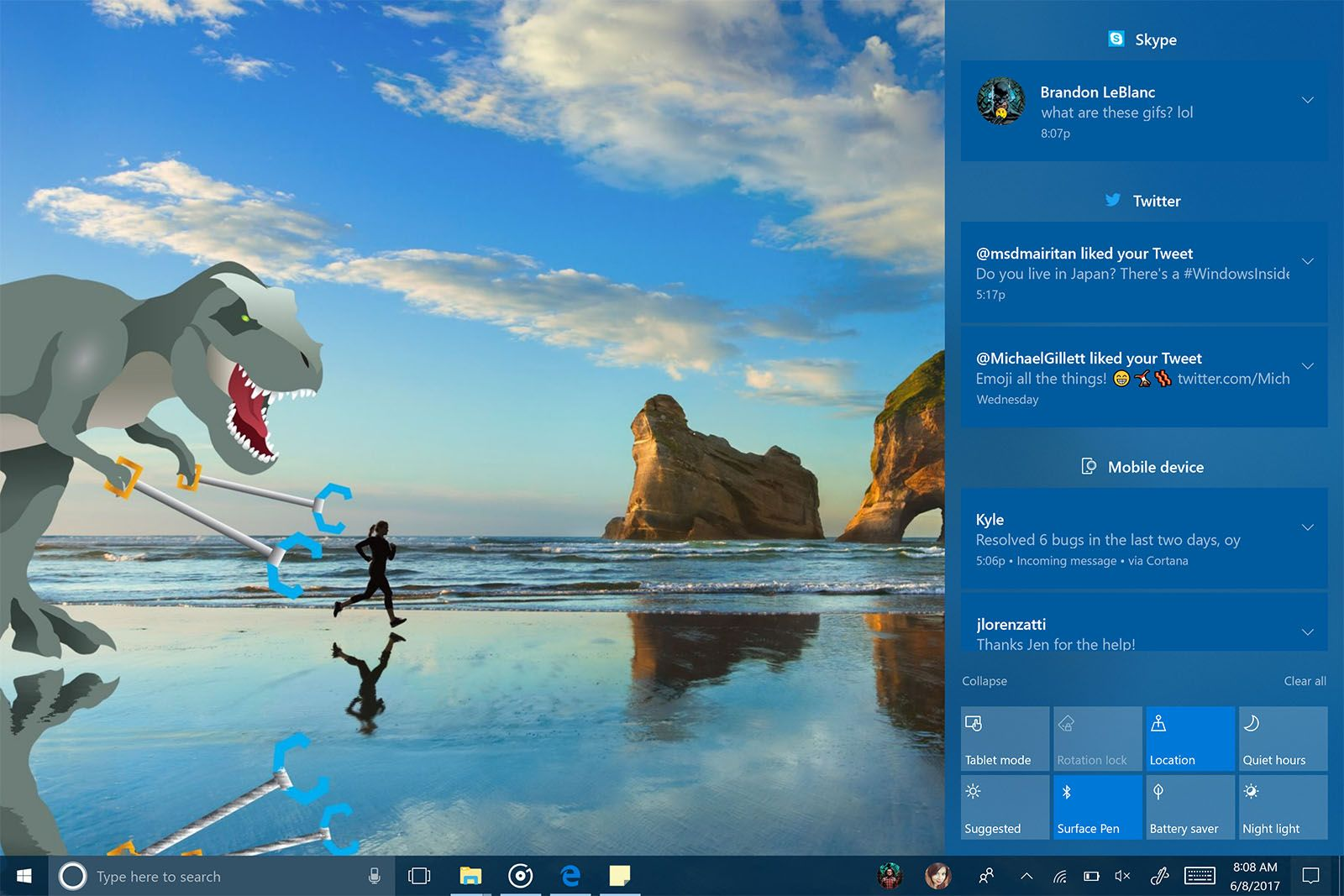Windows 10 Preview Shows Big Changes Are Coming Engadget Wallpaper Windows 10 Uhd Wallpaper Windows 10