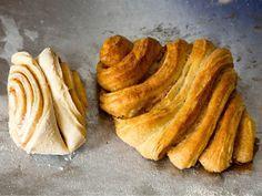 Zu Hause ist diese zuckrig-zimtige Spezialität in Hamburg. Offenbar versuchten die Hamburger sich an französischen Croissants - und erschufen ihr eigenes Gebäck. Die weichen Schnecken sind zwar etwas aufwendiger in der Zubereitung, schmecken dafür aber einfach wunderbar! http://www.fuersie.de/kochen/backrezepte/artikel/franzbroetchen-rezept