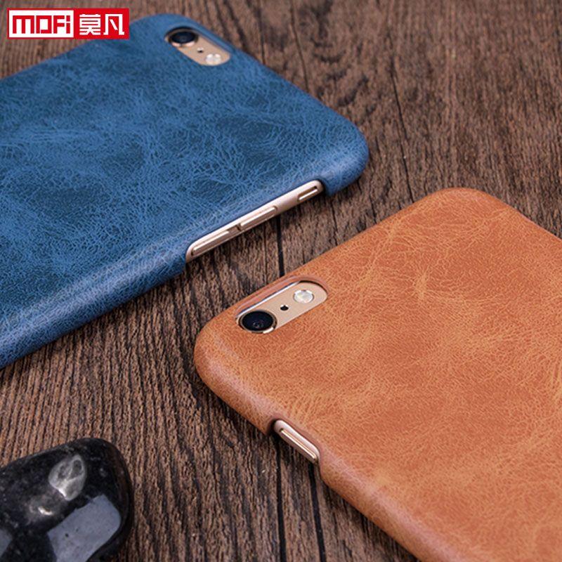 Mofi iphone 6 s 케이스 브라운 가죽 케이스 커버 4.7 대한 apple iphone 6 케이스 액세서리 블랙 보호 럭셔리 원래 펀다