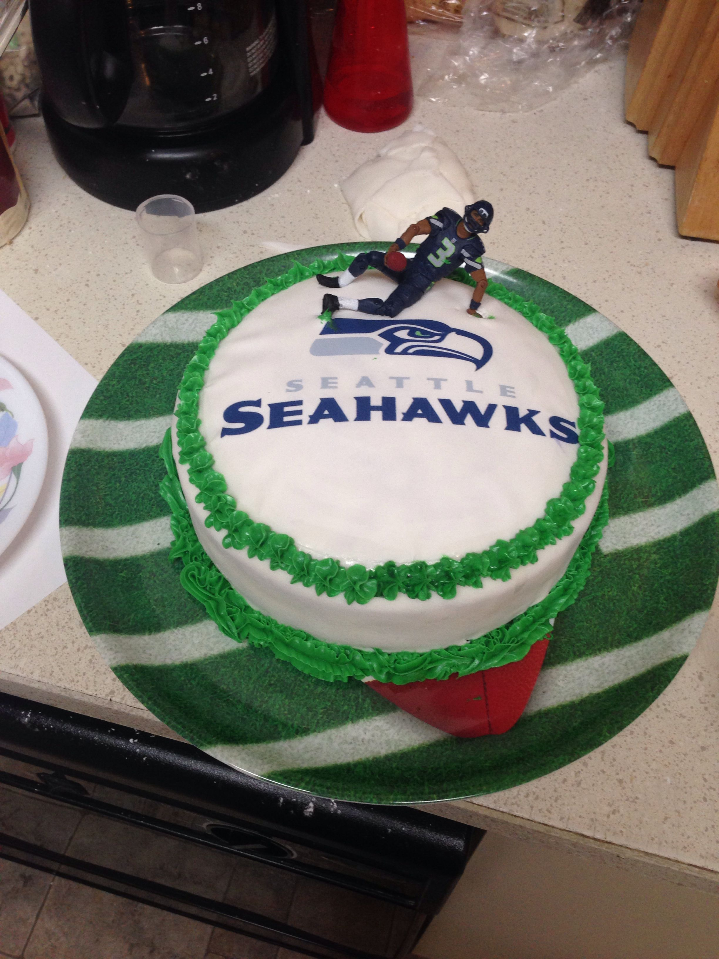 Seahawks Birthday Cake Seahawks Cake Yellow