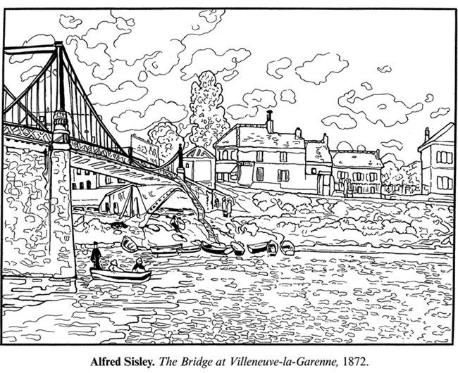 Impressionist Art Coloring Pages
