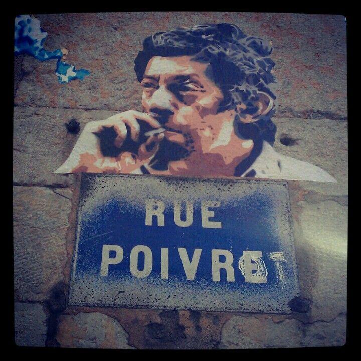 Rue poivre - poivrot, Lyon. France
