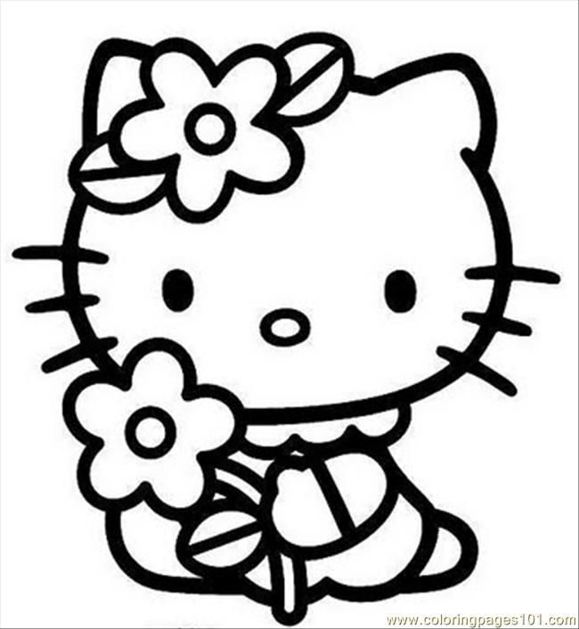 Hello Kitty Coloring Pages With Crayons : Hello kitty coloring pages