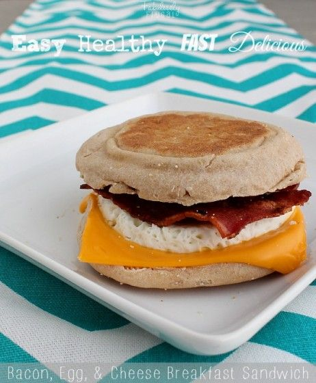 Kick your morning off with a healthy start with this Biggest Loser Breakfast Sandwich! #eathealthy #breakfast