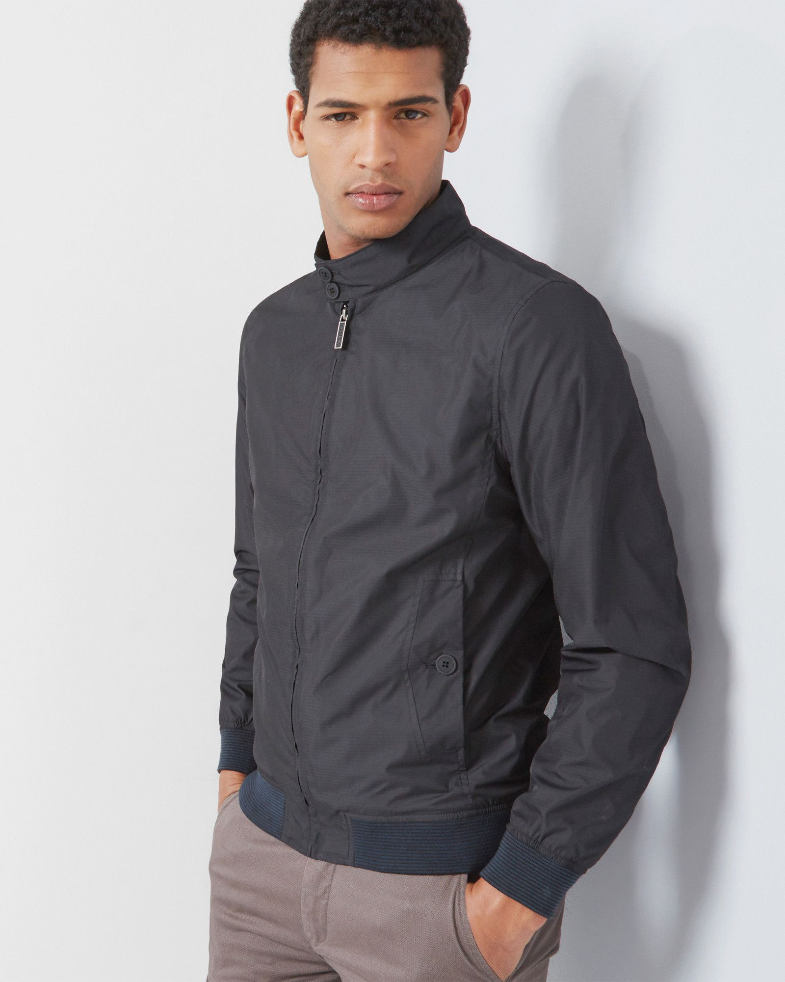 145c2cfe85b90d Shop your favourite men s jackets and coats from Ted Baker s carefully  curated range. Bomber jacket - Black