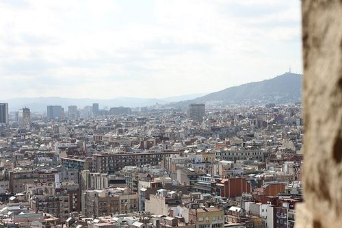View of Barcelona from the top of La Sagrada Familia   Costa Brava & Catalunya Excursions in Barcelona Holidays in Barcelona Sightseeing tours, airport transfers, taxi, interpreter and your personal guide in Bar
