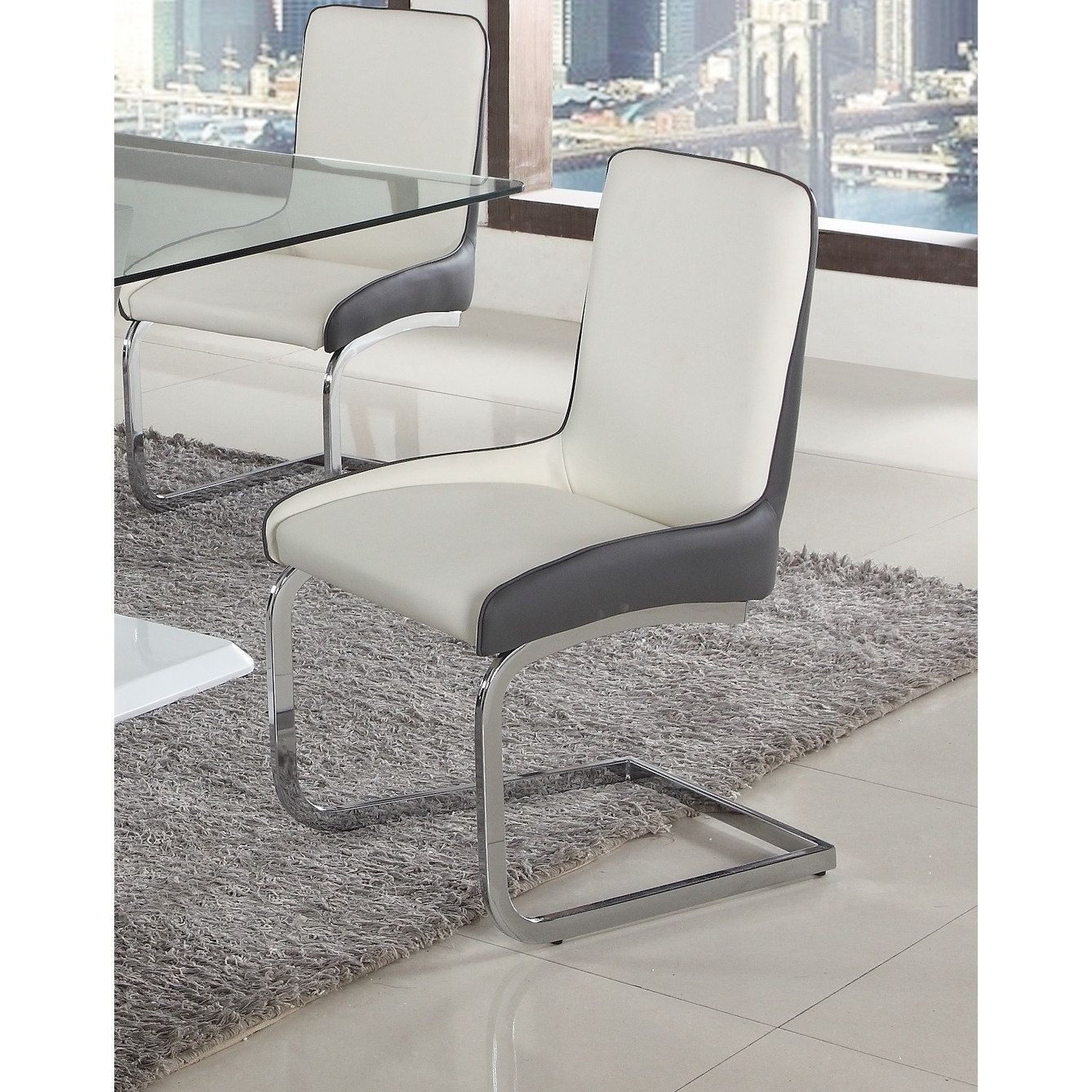 Outstanding Somette Sophie Two Tone Bucket Style Brewer Chair Set Of 2 Machost Co Dining Chair Design Ideas Machostcouk