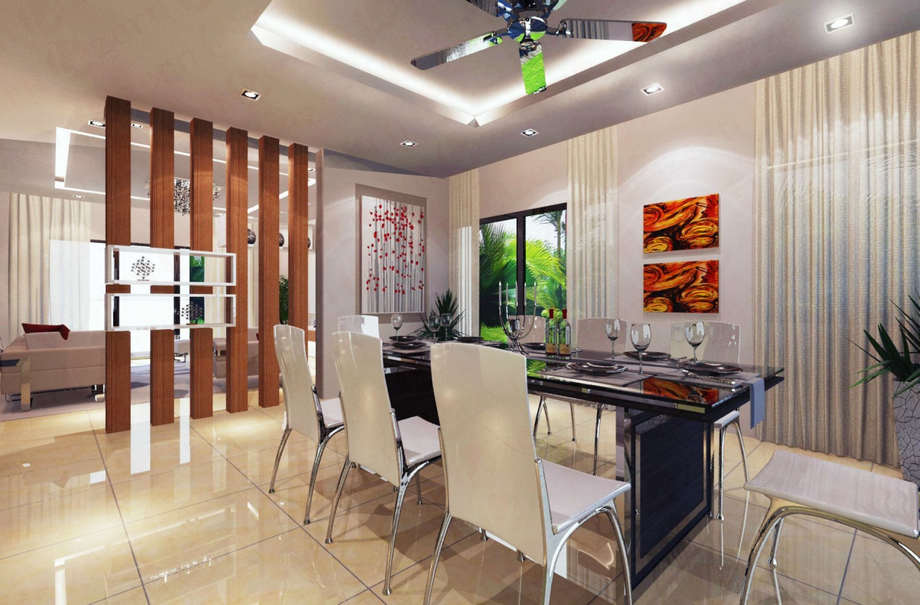 Wall Partition design in between Living & Dining Dining ...