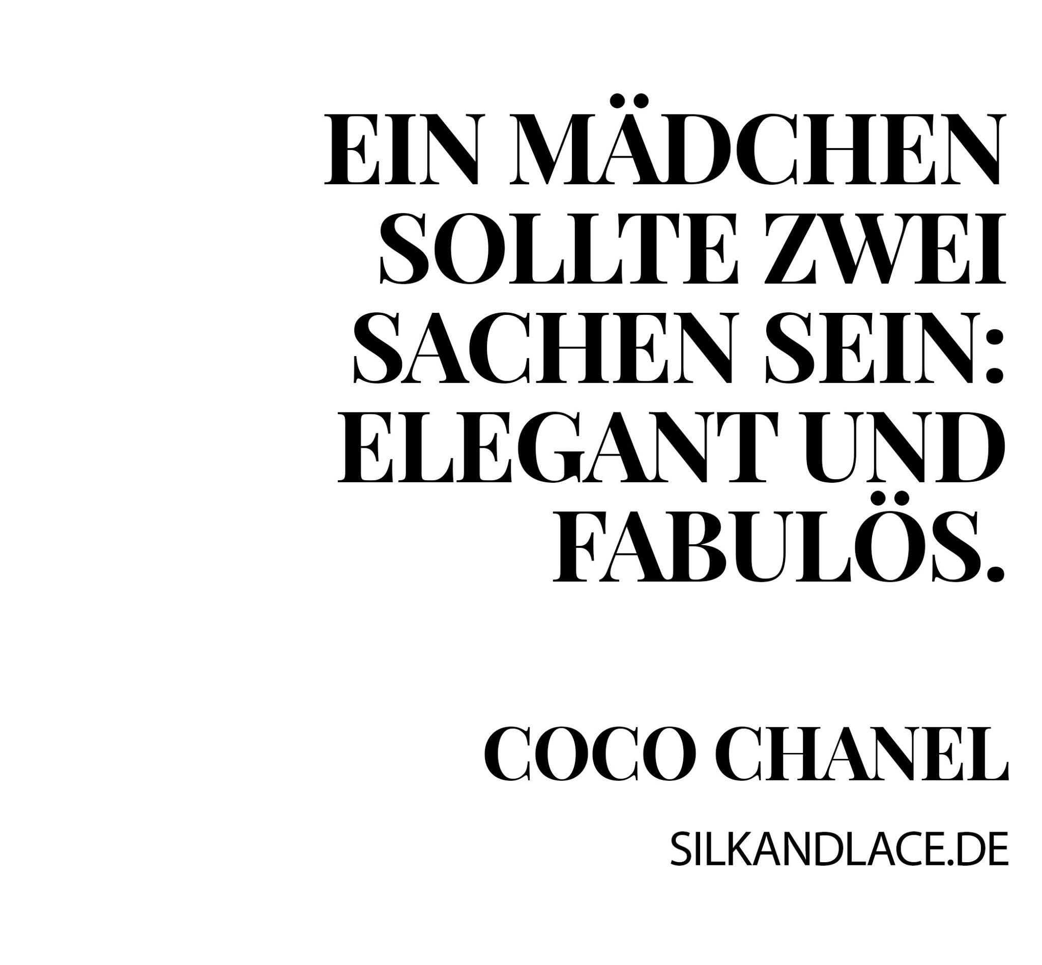 True Spruch Wahr Stil Mode Zitate Coco Chanel