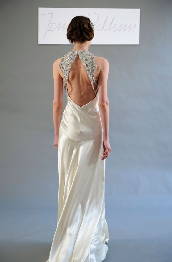 Superbe Collection Backless Wedding Dresses Vera Wang Pictures   Weddings Pro