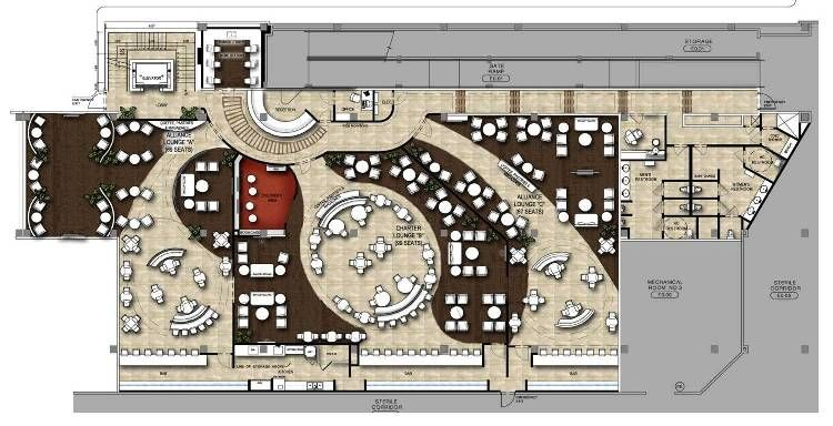 airport lounge floor plan Google Search Restaurant