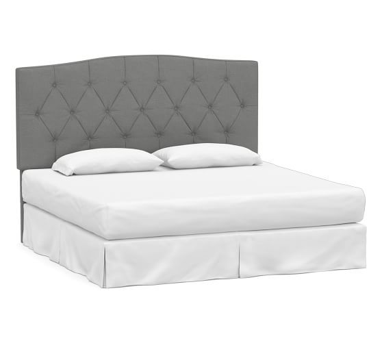 Best Elliot Curved Upholstered Headboard Queen Brushed 400 x 300
