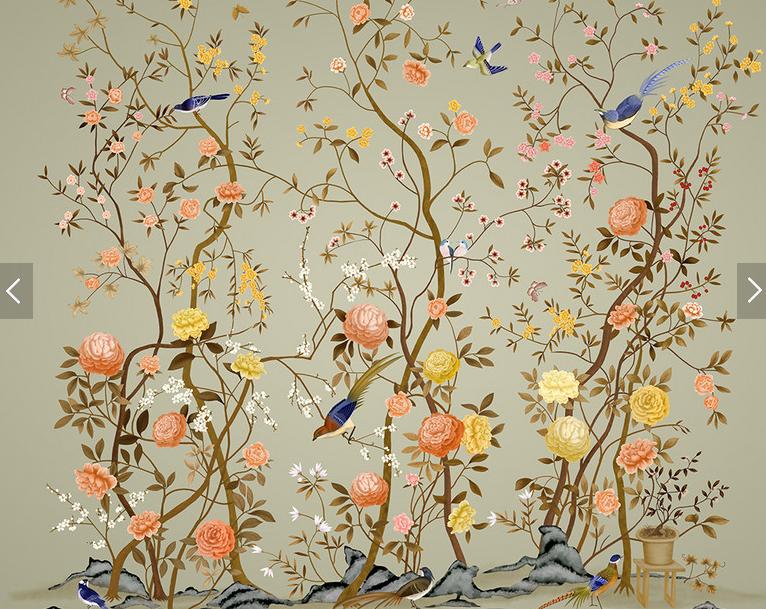 3d papier peint oiseaux fleur photo mural paysage moderne for Papier peint ecran