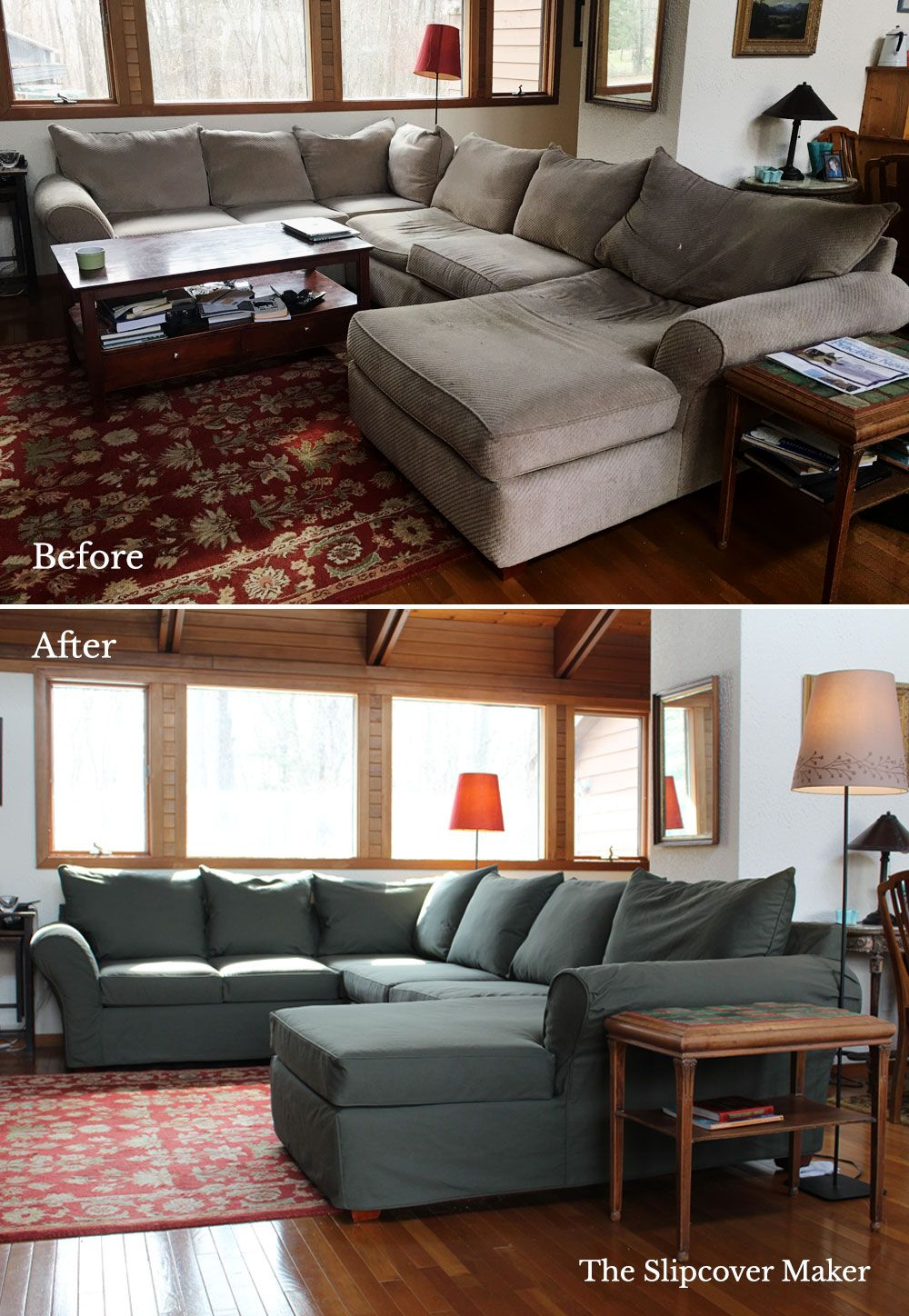 4 Money Saving Tips For Slipcovering Your Sectional Sectional Sofa Slipcovers Sectional Slipcover Furniture Covers Slipcovers