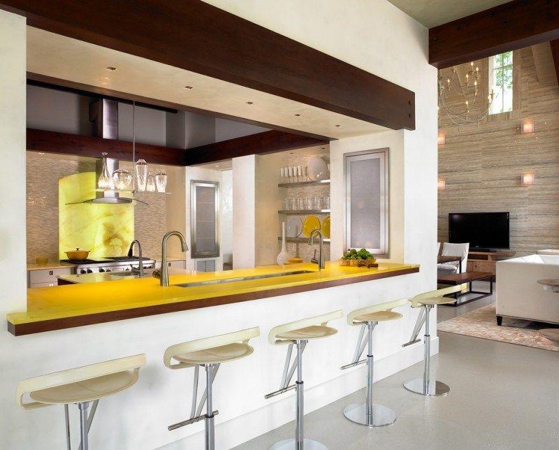 Design et conception cuisine u201380 cuisines élégantes - Table De Cuisine Avec Plan De Travail