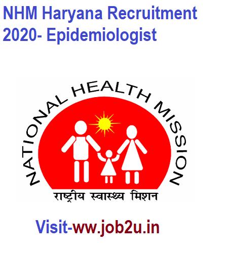 NHM Haryana Recruitment 2020- Epidemiologist in 2020 ...