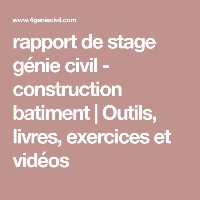 rapport de stage g u00e9nie civil