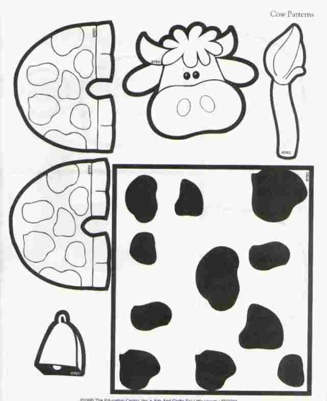 C Is For Cow Toilet Paper Roll Cow Craft Template Printable